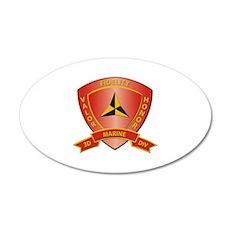 USMC - HQ Bn - 3rd Marine Division Wall Decal