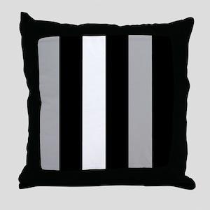 Grey Black And White Stripes Throw Pillow