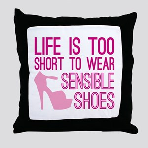 Sensible Shoes Throw Pillow