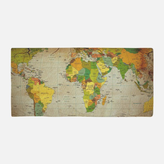 World map gifts merchandise world map gift ideas apparel vintage world map beach towel gumiabroncs Choice Image