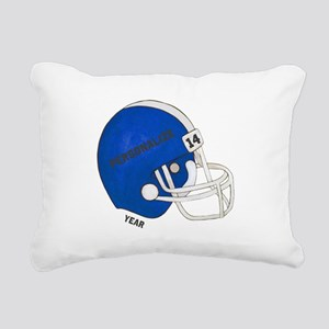 Football Helmet Rectangular Canvas Pillow
