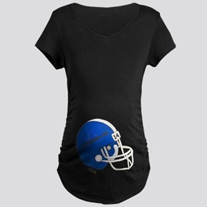 Football Helmet Maternity Dark T-Shirt