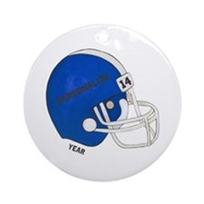 Football Helmet Ornament (Round)