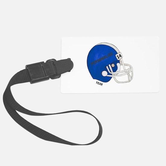 Football Helmet Luggage Tag
