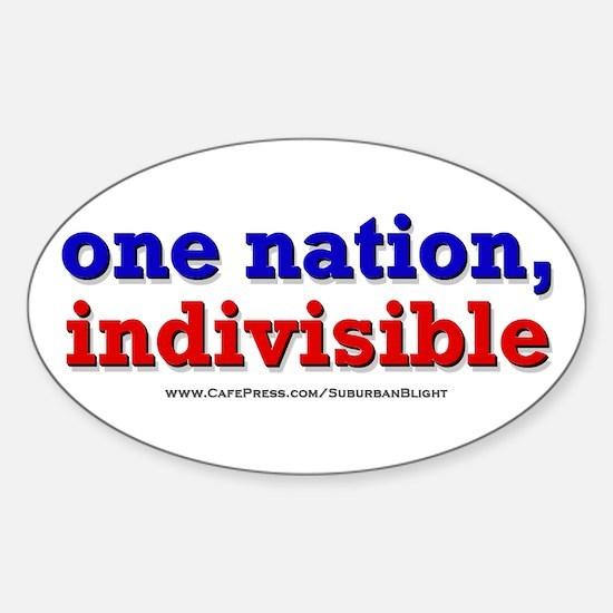 One Nation Indivisible bevmug Decal