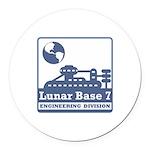 Lunar Engineering Division Round Car Magnet