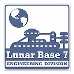 Lunar Engineering Division Square Car Magnet 3