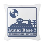 Lunar Engineering Division Woven Throw Pillow