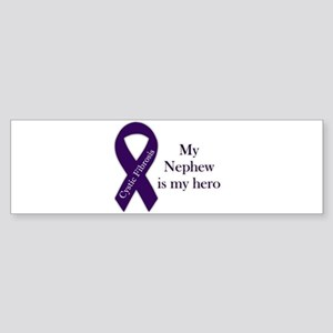 nephewHeroPurpleRibbon-01 Bumper Sticker