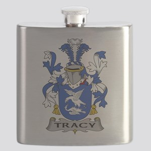 Tracy Family Crest Flask