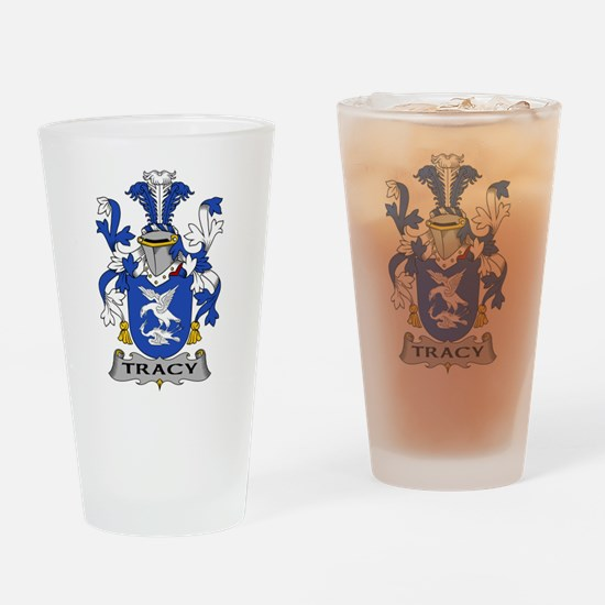 Tracy Family Crest Drinking Glass