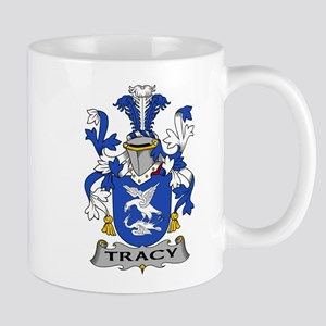 Tracy Family Crest Mugs