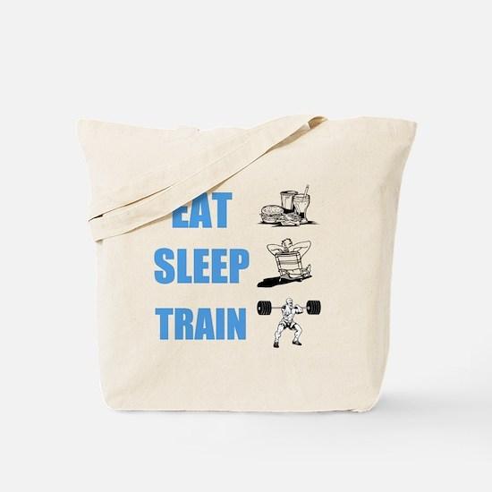 EAT SLEEP TRAIN Tote Bag