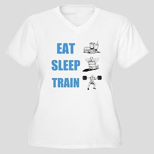 EAT SLEEP TRAIN Plus Size T-Shirt