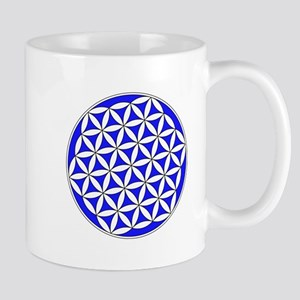 Flower Of Life Blue Mugs