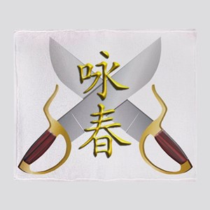 Wing Chun Bart Cham Do Throw Blanket