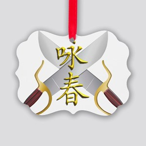 Wing Chun Bart Cham Do Picture Ornament