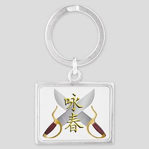 Wing Chun Bart Cham Do Landscape Keychain