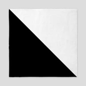 Black And White Halves Queen Duvet