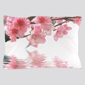 Flowers Water Reflection Pillow Case