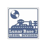 Lunar Legal Division Square Sticker 3