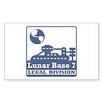 Lunar Legal Division Sticker (Rectangle 50 pk)