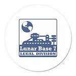 Lunar Legal Division Round Car Magnet