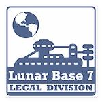 Lunar Legal Division Square Car Magnet 3