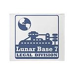 Lunar Legal Division Throw Blanket