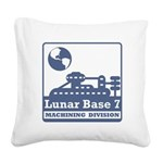 Lunar Machining Division Square Canvas Pillow