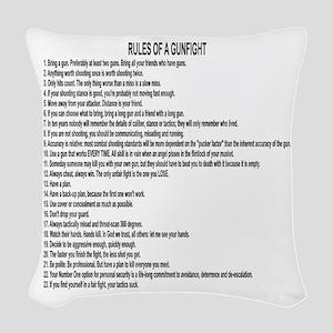 23 Rules Of A Gun Fight Woven Throw Pillow