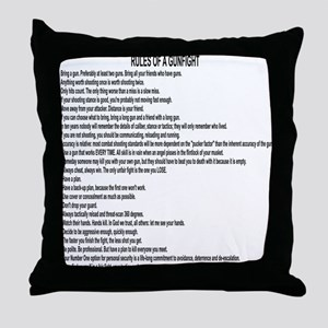 23 Rules Of A Gun Fight Throw Pillow
