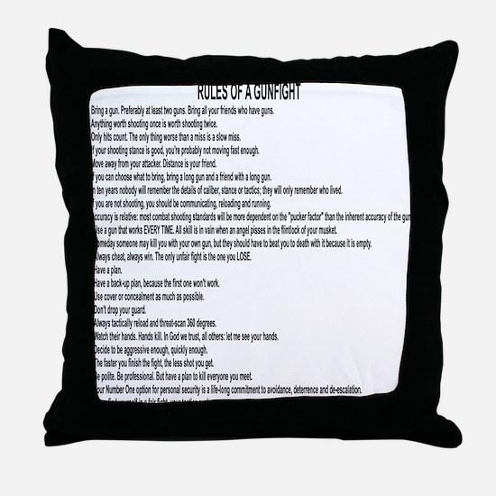 23 Rules Of A Gun Fight Throw Pillow
