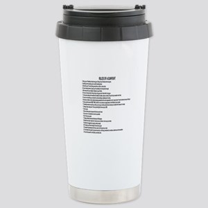 23 Rules Of A Gun Fight Stainless Steel Travel Mug