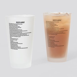 23 Rules Of A Gun Fight Drinking Glass