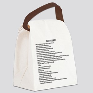 23 Rules Of A Gun Fight Canvas Lunch Bag
