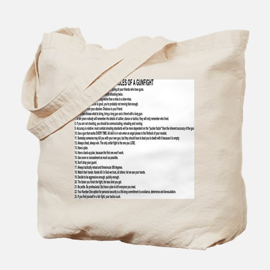 23 Rules Of A Gun Fight Tote Bag