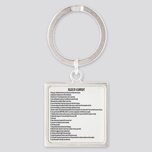 23 Rules Of A Gun Fight Square Keychain