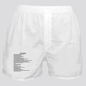 23 Rules Of A Gun Fight Boxer Shorts