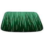 Green Binary Rain Bathmat