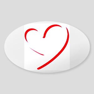 Brushstroke heart Sticker