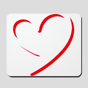 Brushstroke heart Mousepad