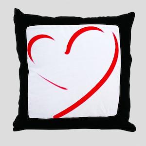 Brushstroke heart Throw Pillow