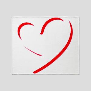 Brushstroke heart Throw Blanket