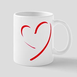 Brushstroke heart Mugs