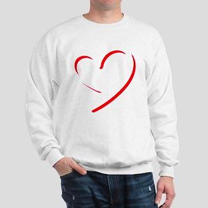 Brushstroke heart Sweatshirt