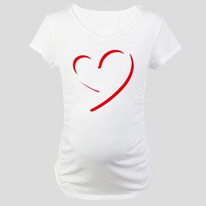 Brushstroke heart Maternity T-Shirt