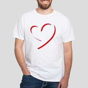 Brushstroke heart T-Shirt