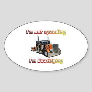 I'm Not Speeding Oval Sticker