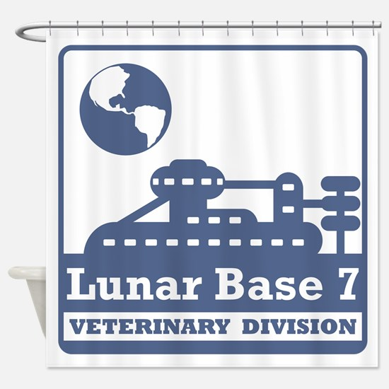 Lunar Veterinary Division Shower Curtain